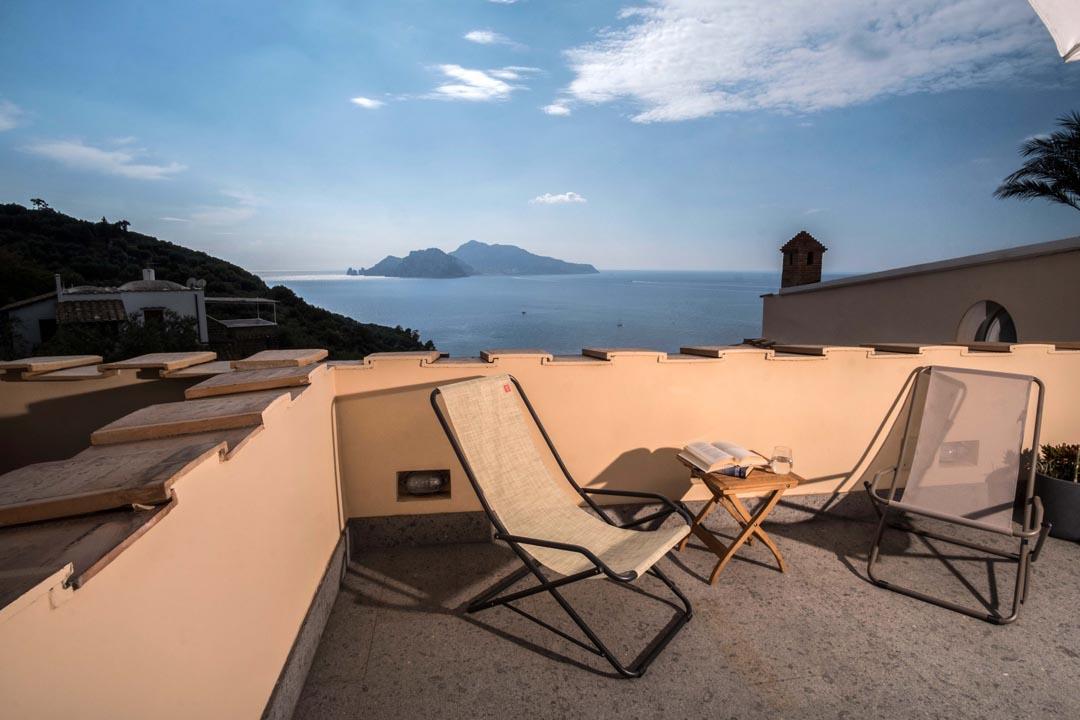Solarium with Capri view - VILLA MARCIANO CAPRI VIEW