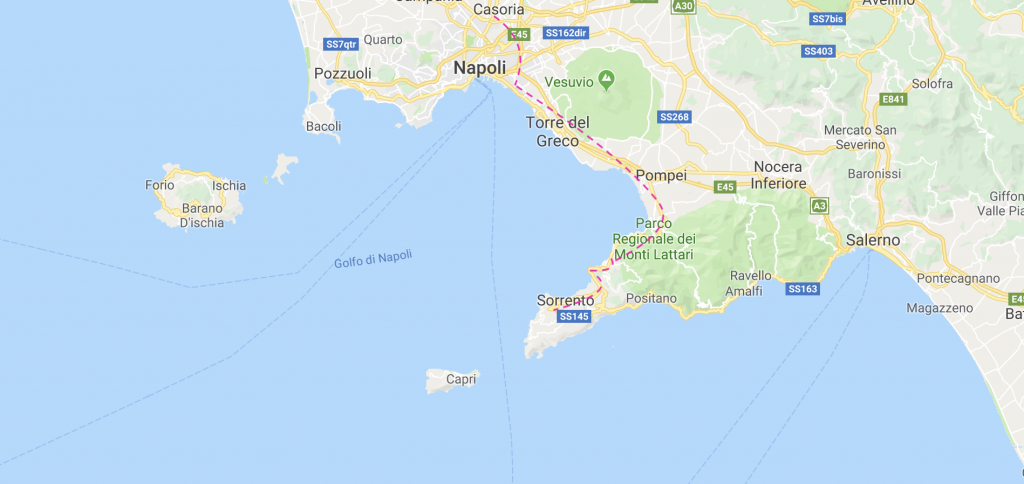 From Naples To Sorrento By Bus