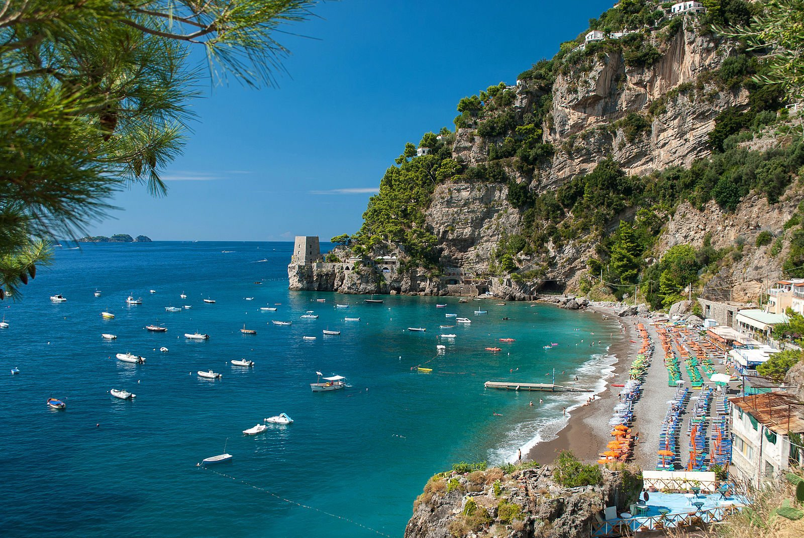 Beaches in Amalfi Coast, Positano