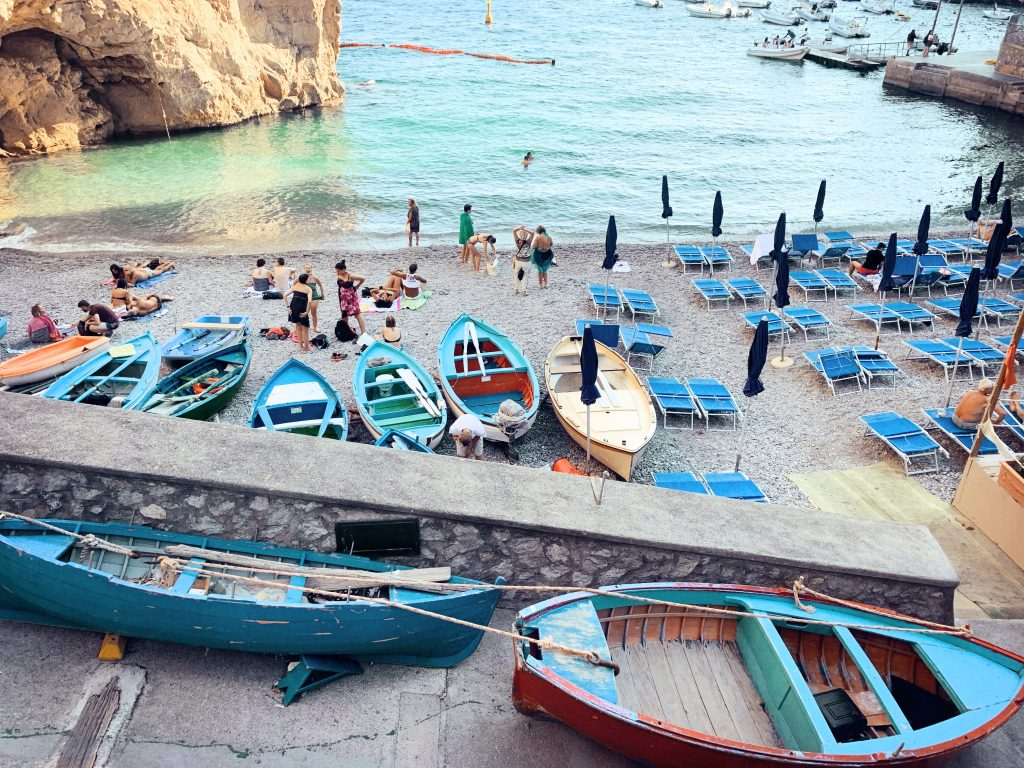 Amalfi Coast tour, beach in Praiano
