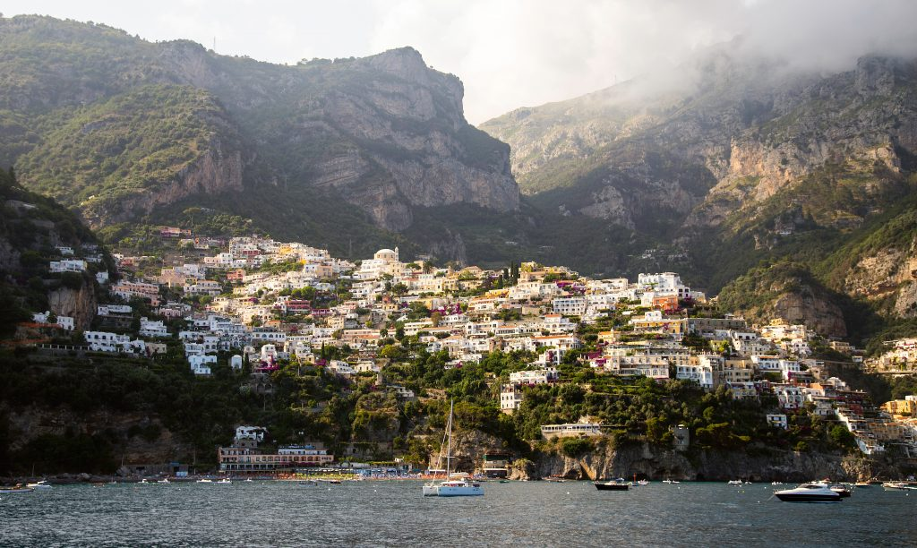 Positano, on the Amalfi Coast drive