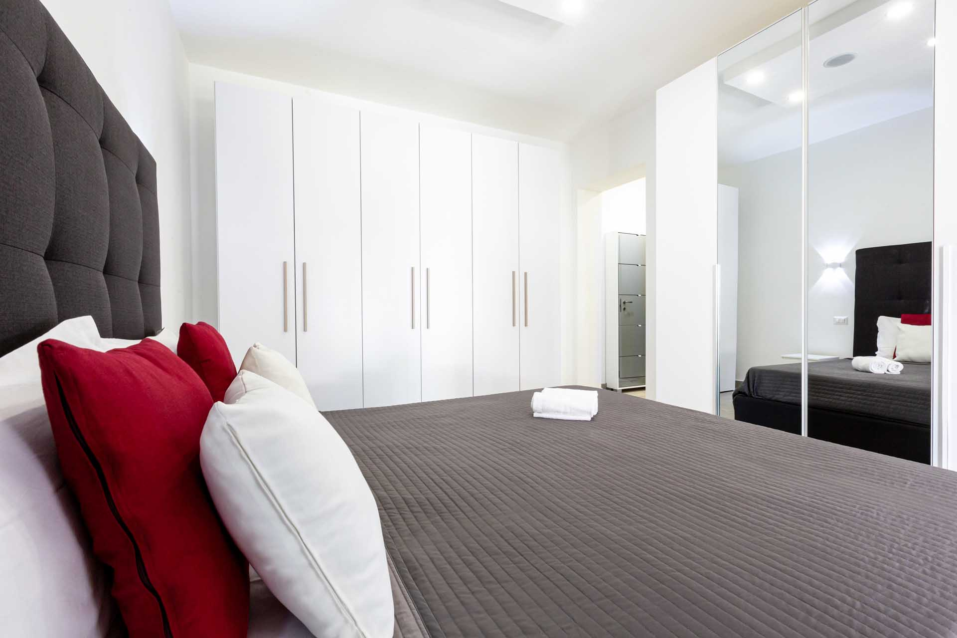 Conny's apartment bedroom