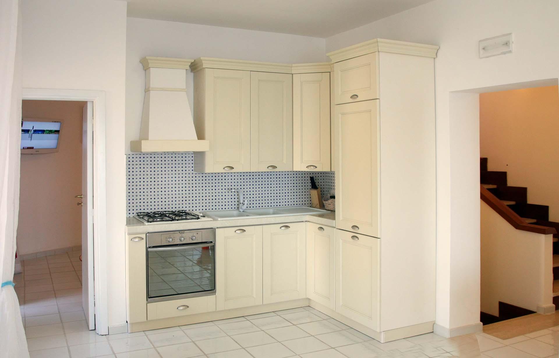 Kitchen in Luxury Nerano Villa with Sea View