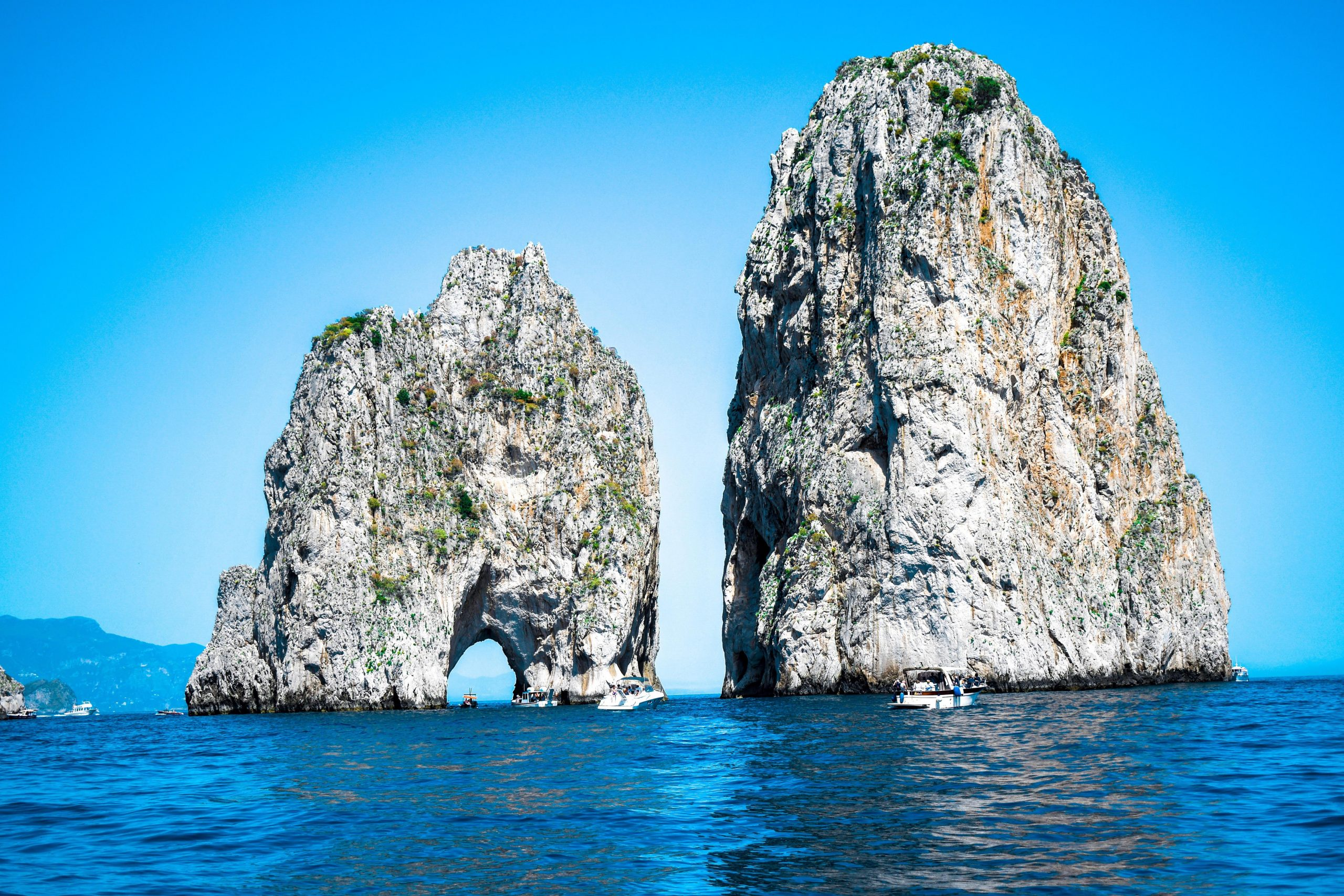 Capri boat tour from Sorrento - Faraglioni rocks