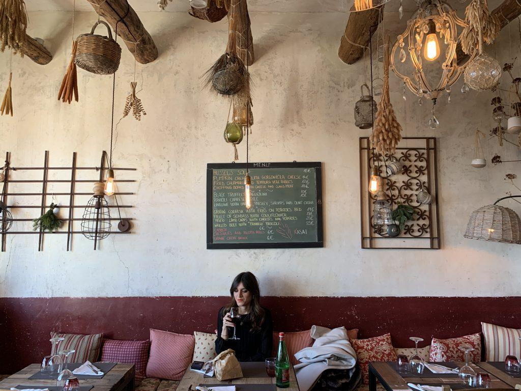 Interiors of the Kasai restaurant on the Amalfi Coast