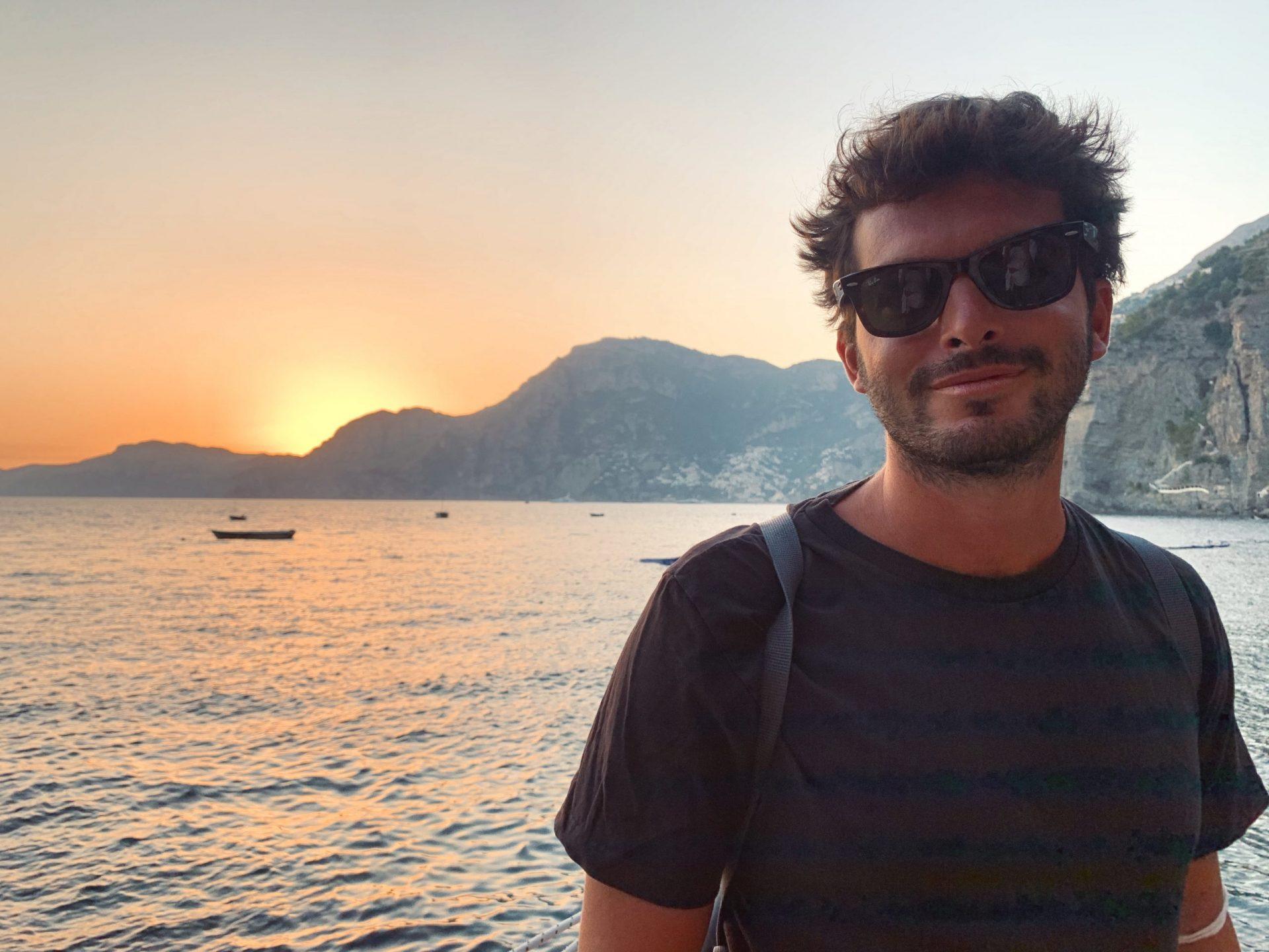 Sunset in Positano, Amalfi Coast