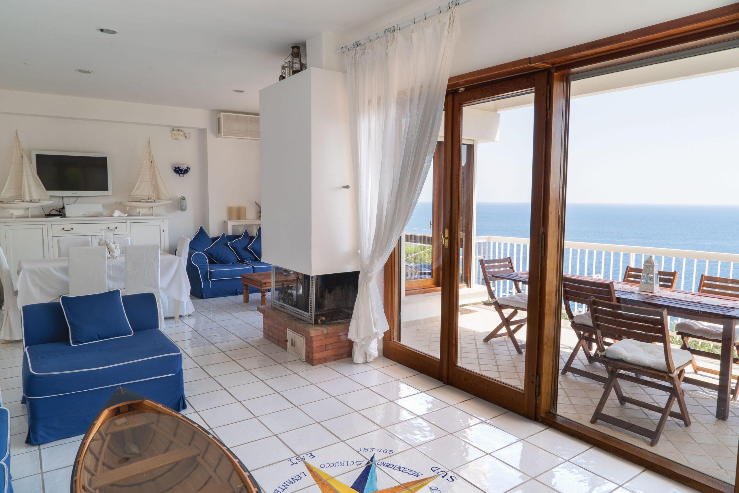 Villa Sorrento Coast with swimming pool Living room