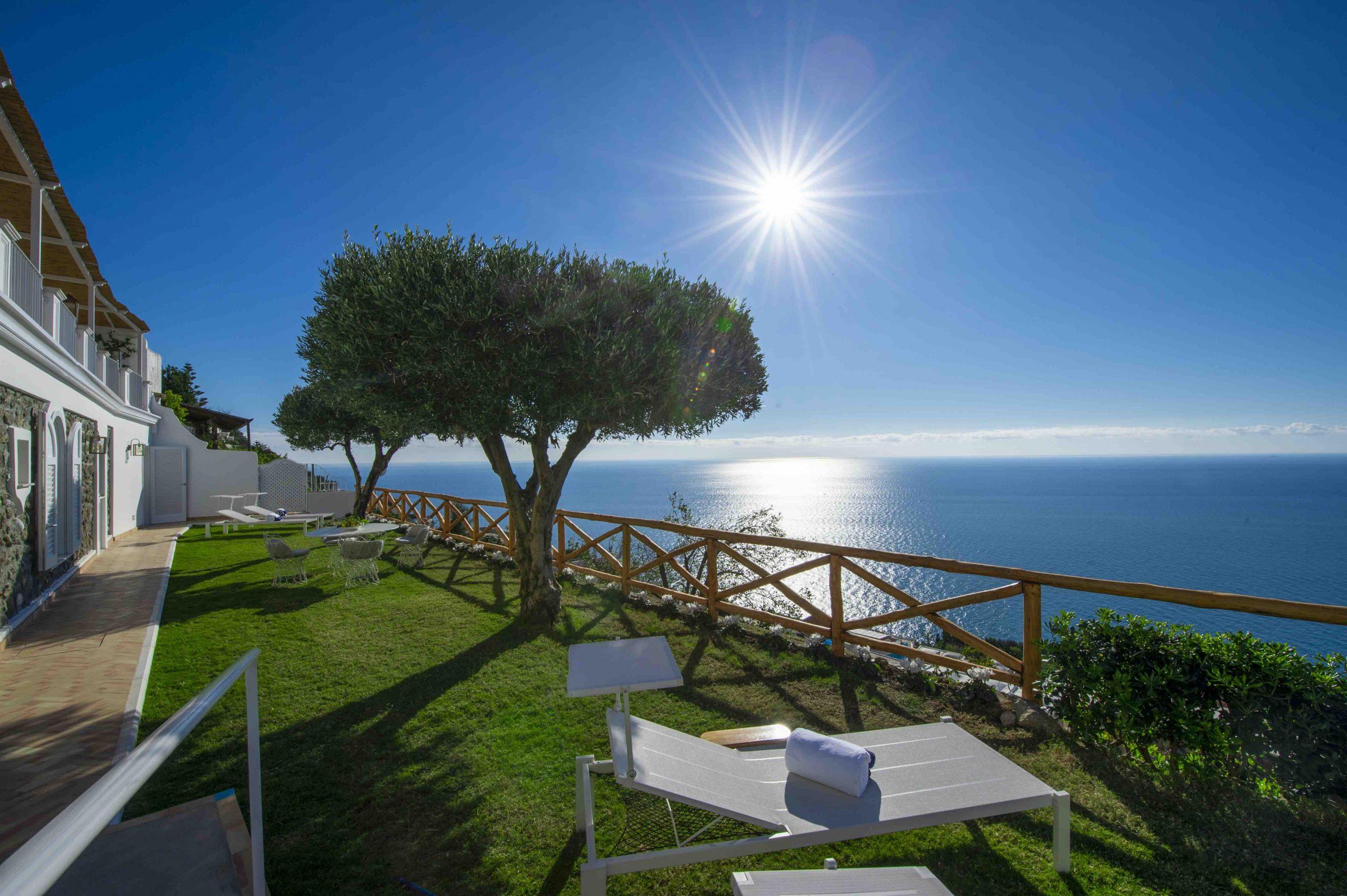 Amalfi Coast Exclusive Villa in Praiano with Pool & View - Gardens